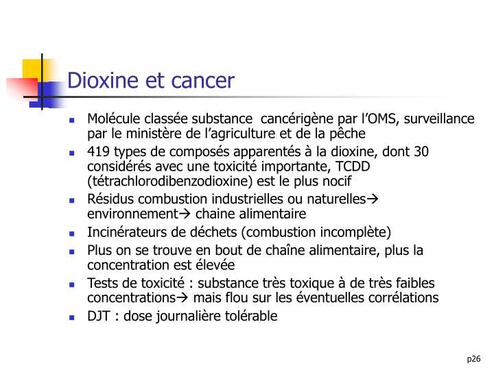 Dioxine et cancer