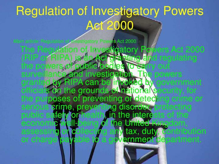 Regulation of Investigatory Powers Act 2000