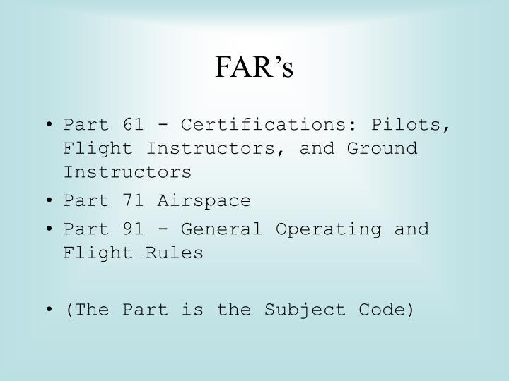 FAR's