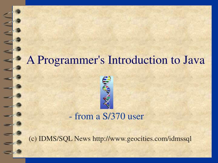 A programmer s introduction to java