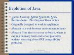 evolution of java