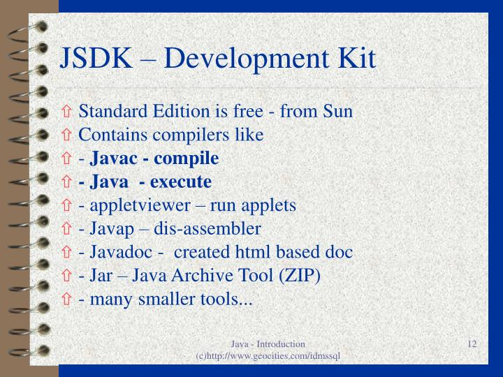 JSDK – Development Kit