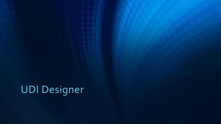 UDI Designer