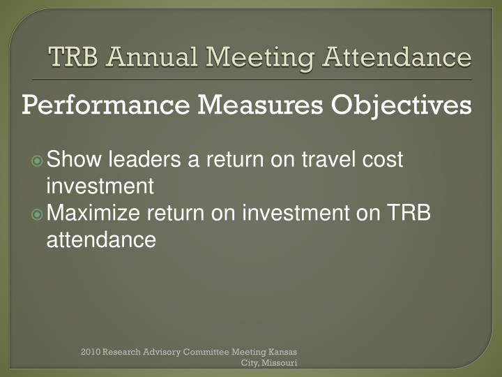 TRB Annual Meeting Attendance