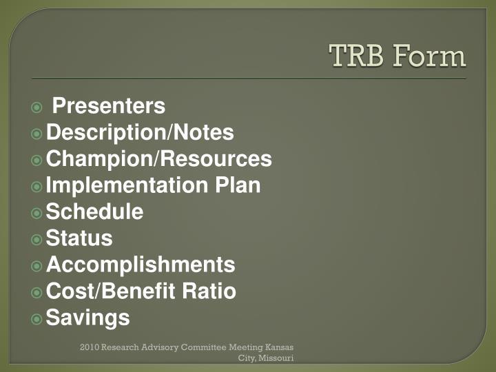 TRB Form