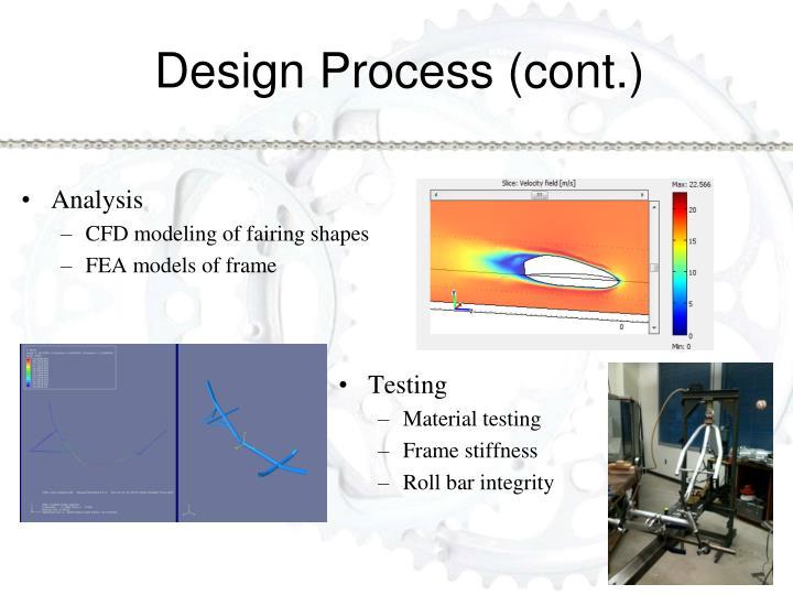Design Process (cont.)