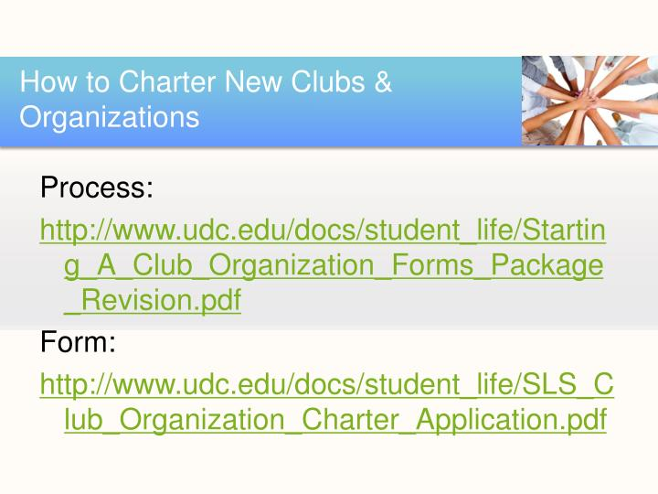 How to Charter New Clubs & Organizations