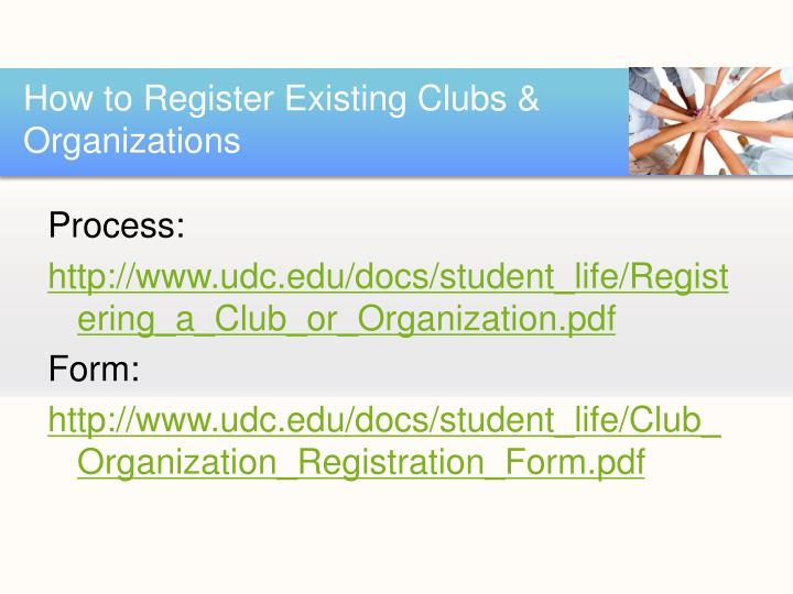 How to Register Existing Clubs & Organizations