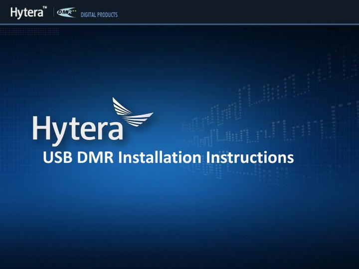 usb dmr installation instructions