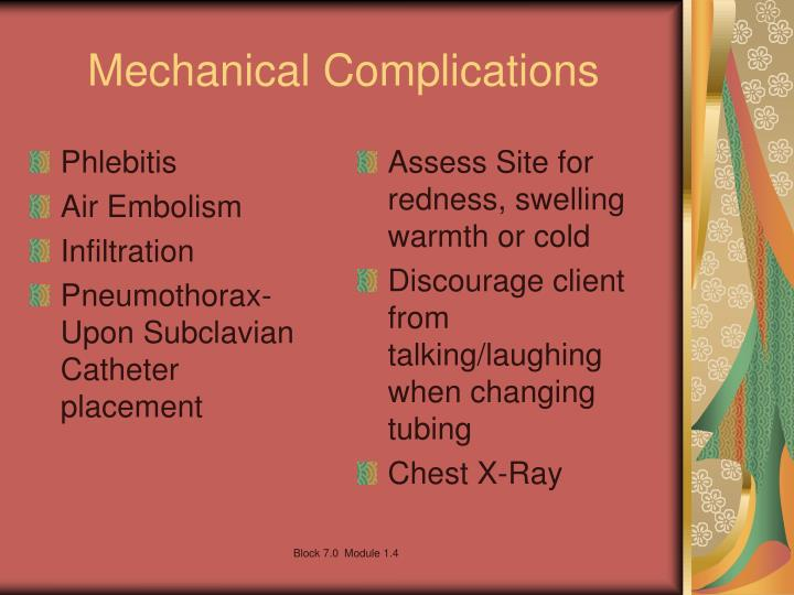 Mechanical Complications