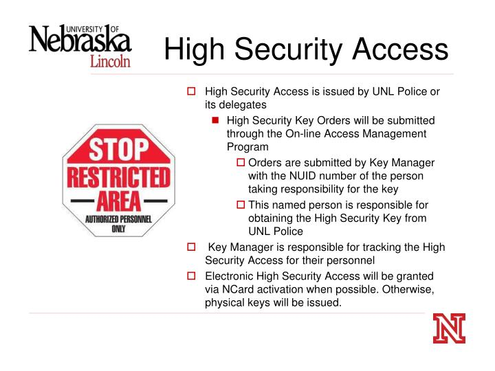 High Security Access