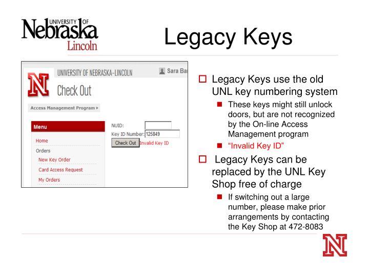 Legacy Keys