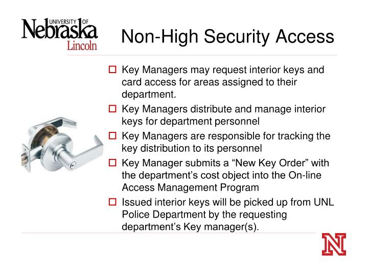 Non-High Security Access