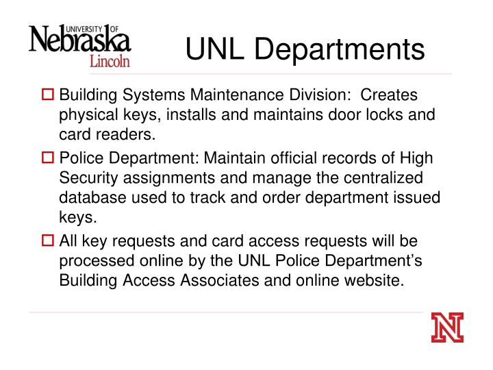 UNL Departments