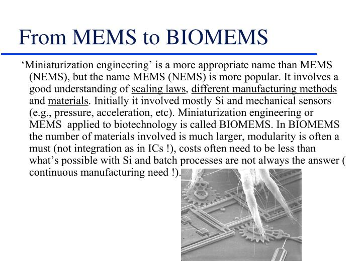From mems to biomems