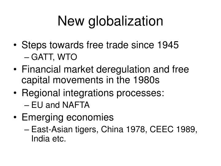 New globalization