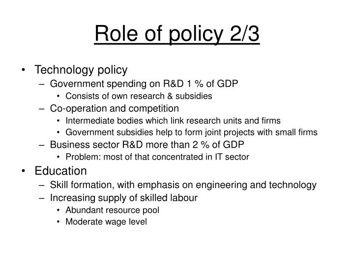 Role of policy 2/3