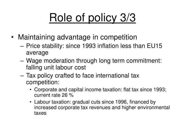 Role of policy 3/3