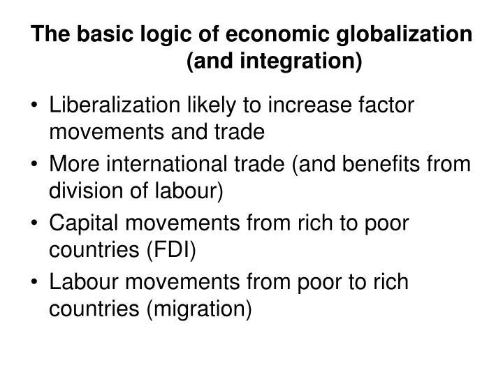 The basic logic of economic globalization (and integration)