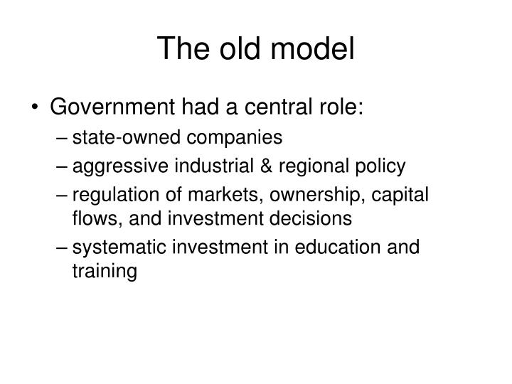 The old model