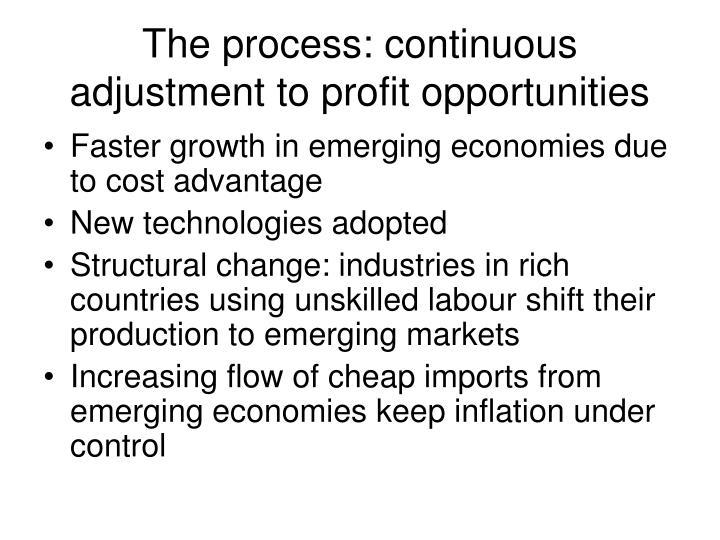 The process: continuous adjustment to profit opportunities