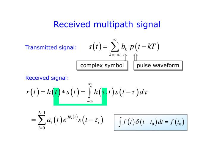 Received multipath signal