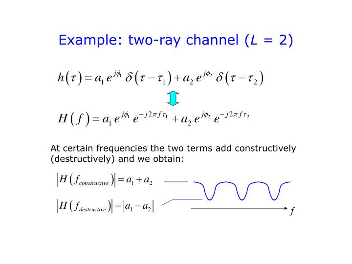 Example: two-ray channel (