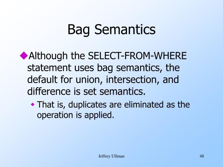 Bag Semantics