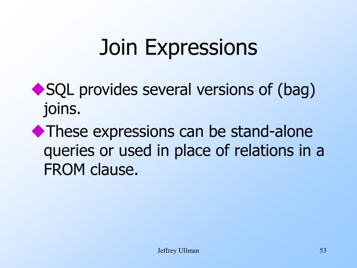 Join Expressions