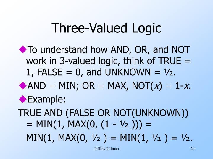 Three-Valued Logic