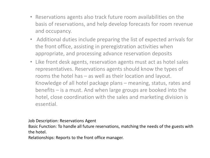 Medical Front Office Job Description » Front Desk Hotel Job