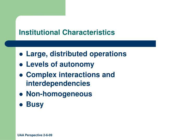 Institutional Characteristics