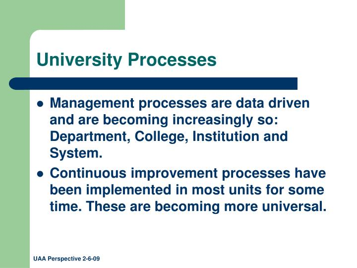 University Processes