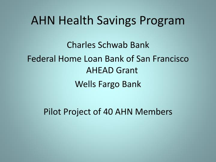 AHN Health Savings Program