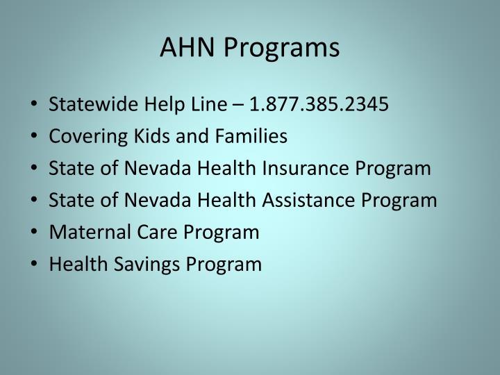 AHN Programs
