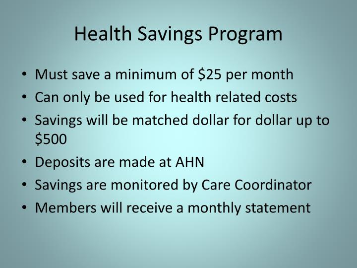 Health Savings Program