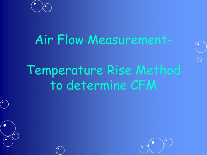 Air Flow Measurement-