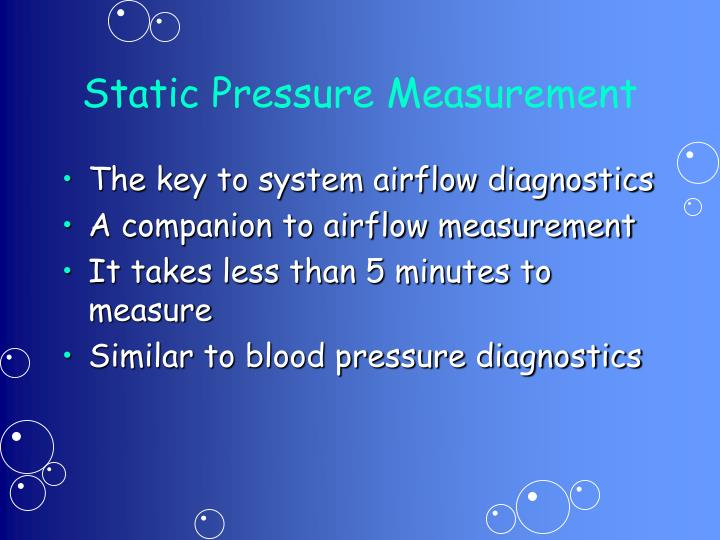 Static Pressure Measurement