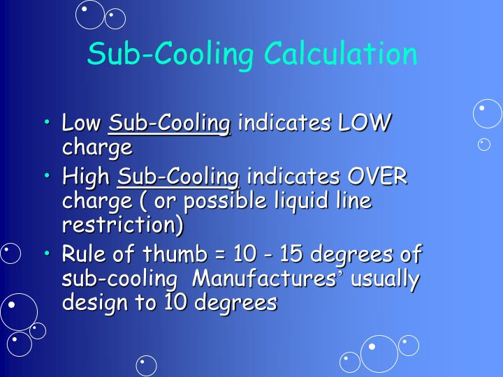 Sub-Cooling Calculation
