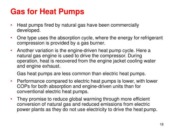 Gas for Heat Pumps