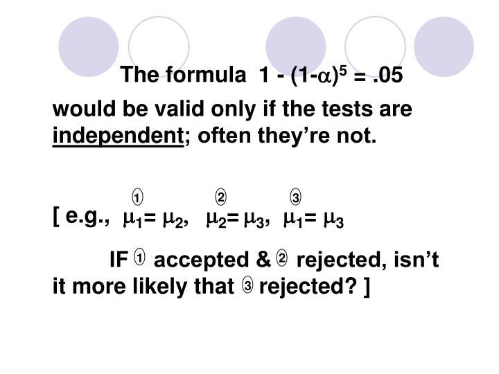 The formula
