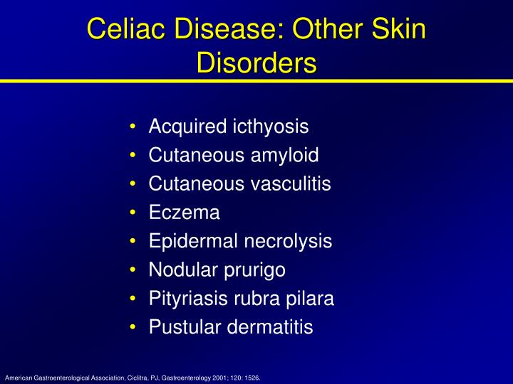 Celiac Disease: Other Skin Disorders