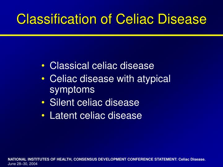 Classification of Celiac Disease