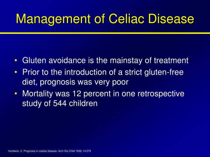 Management of Celiac Disease