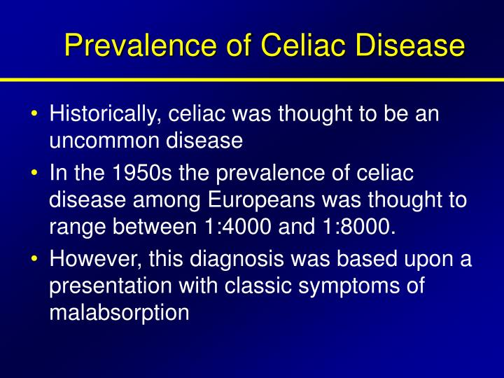Prevalence of Celiac Disease