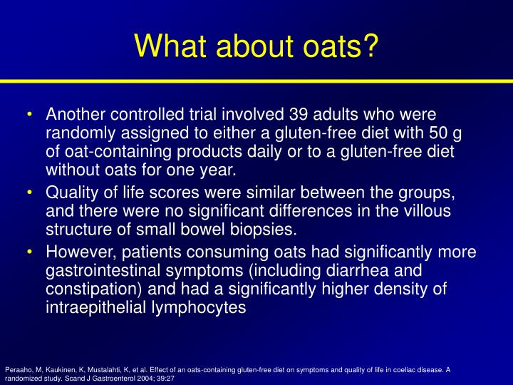 What about oats?