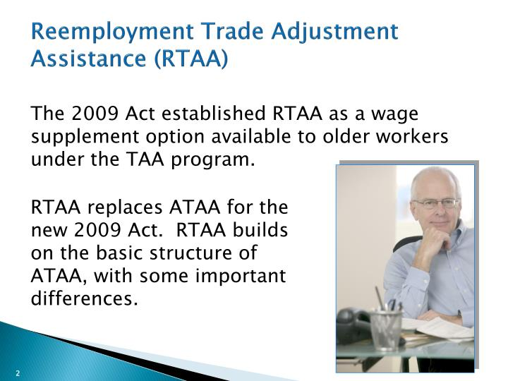 Reemployment trade adjustment assistance rtaa