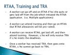rtaa training and tra