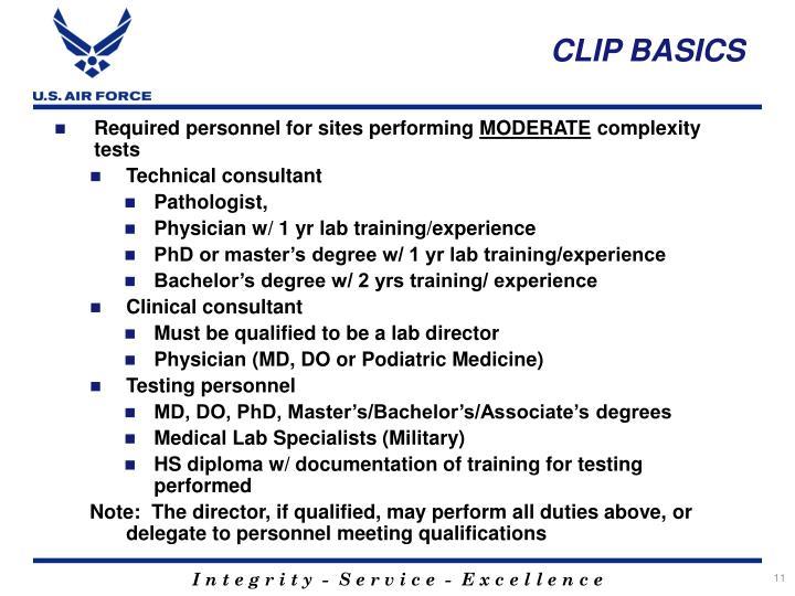 CLIP BASICS