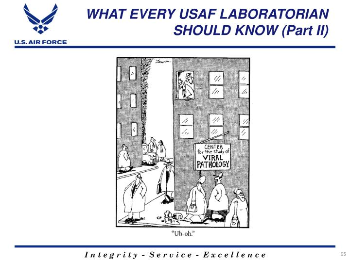 WHAT EVERY USAF LABORATORIAN SHOULD KNOW (Part II)